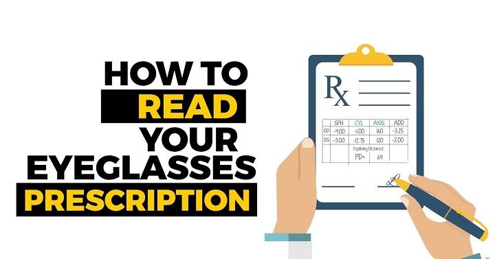 How To Read Eyeglasses Prescription?